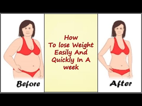 How To lose Weight Easily And Quickly  In A week