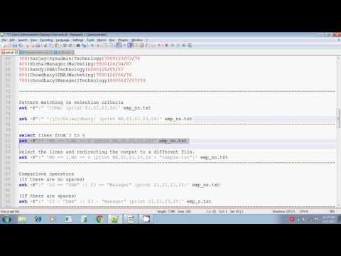 Unix shell scripting awk search pattern part 2