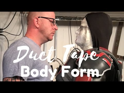 DIY Duct Tape body form - cosplay and patterns