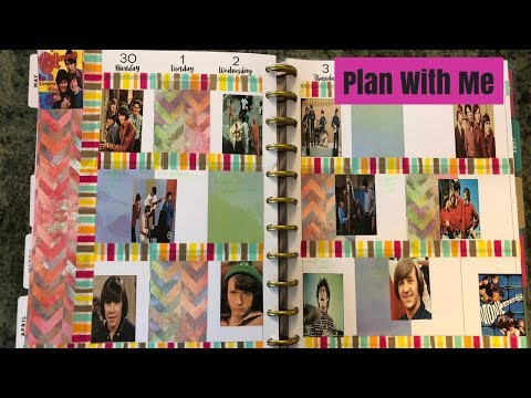 Plan With Me Monkees Theme Happy Planner