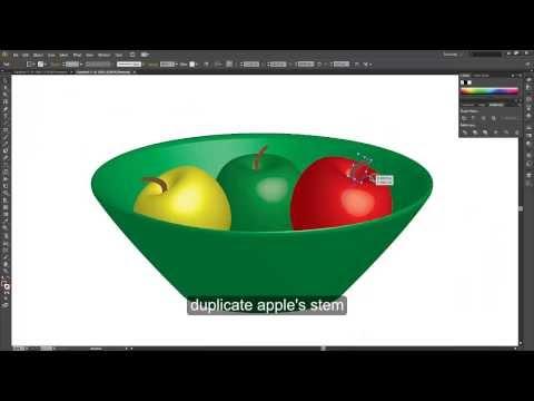 How to draw relastic fruits on adobe illustrator CS6