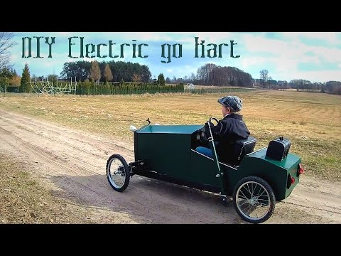 Homemade electric go kart for kids in vintage style - DIY build - part 1