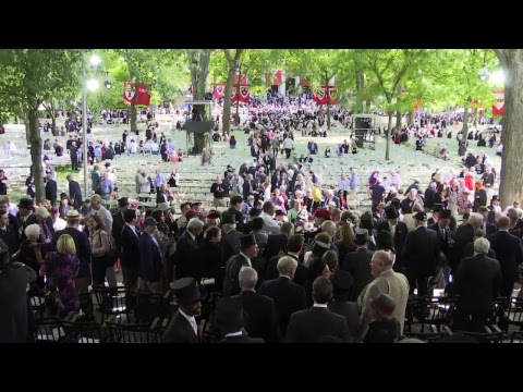 Harvard University's 367th Commencement Afternoon Exercises | May 24, 2018