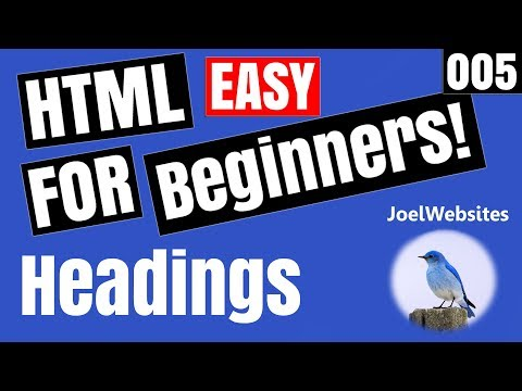005 - HTML Tutorial for Beginners - Headings in html with Example.
