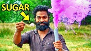 Making Colour Smoke With Sugar | പഞ്ചസാര കൊണ്ട് നിർമിച്ച വർണ പുക  | M4 Tech |