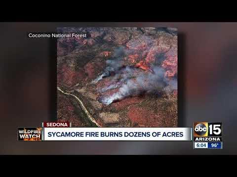 Wildfire has burned 75 acres northwest of Sedona