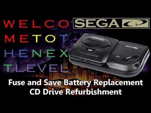 Tech Repair: Sega CD Fuse and Battery Replacement, CD Drive Refurb