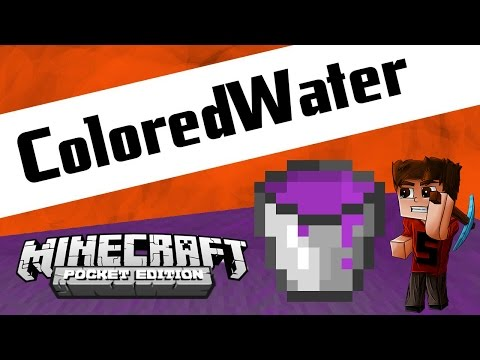 COLORED WATER in Minecraft PE!! - [Tutorial]