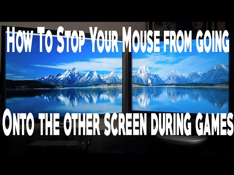 How to fix your mouse from going on to other screens during games. (Dual Monitors)