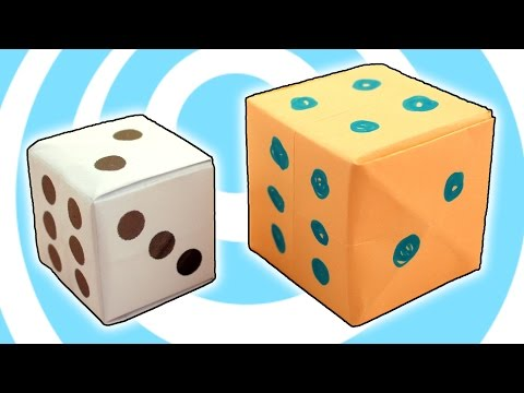 Origami Dice Cube ⚀ Easy Video Instructions ⚅