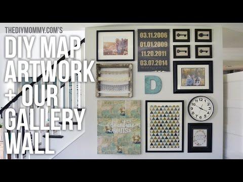 DIY Map Art and Gallery Wall Idea