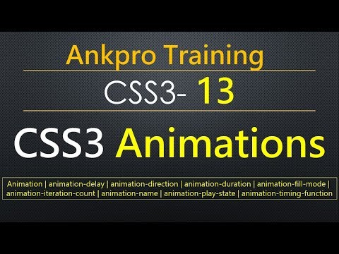 CSS3 13 - CSS3 Animations | Keyframes in CSS | CSS animation using keyframes | Animation without JS