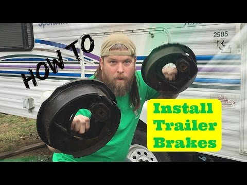 How we installed new electric trailer brakes