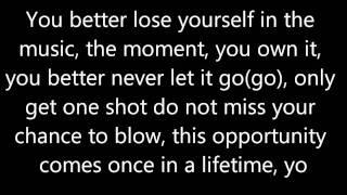 Eminem - Lose Yourself lyrics Clean
