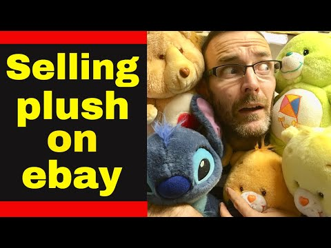Selling Plush on ebay - Sorting cleaning and listing