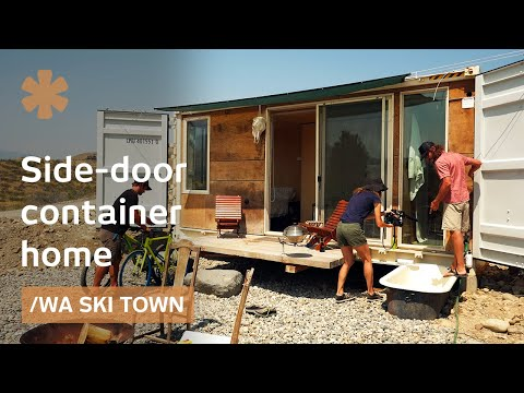 Side-door container 2nd life as WA's ski town outdoorsy home