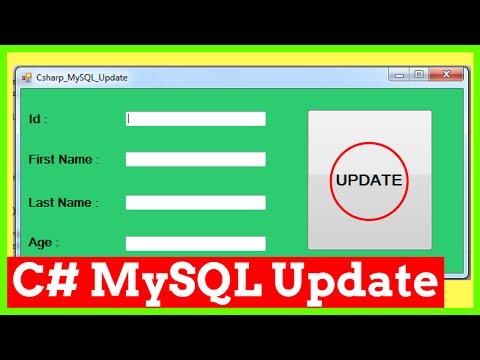 C# & MySQL - How To Update MySQL Database Data Using C# [ With Source Code ]