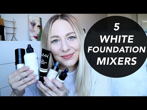 WHITE FOUNDATION MIXERS - lighten your foundations!