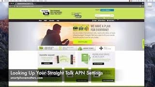 Apn settings for iPhone (straight talk)  Videos & Books