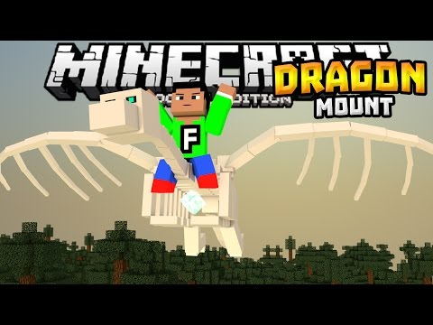 RIDEABLE DRAGONS in MCPE!!! - Dragon Mount Mod - Minecraft PE (Pocket Edition)