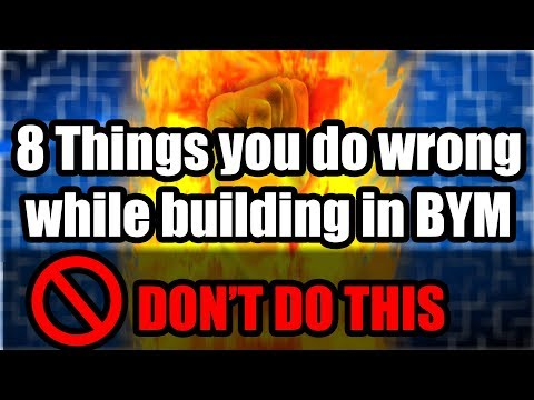 Eight Ways You're Building WRONG In BYM