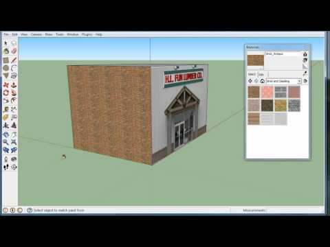 Quick building model, in Google Sketchup, using textures