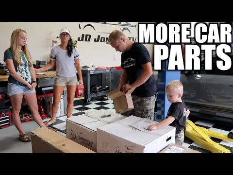 UNBOXING Car Parts and Fan Mail for Mustang Build