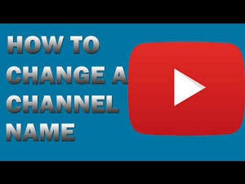 How to change youtube channel name with android device 2017