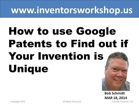 How to use Google Patents to Find out if Your Invention is Unique