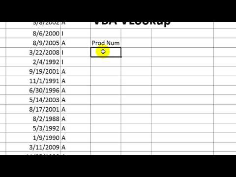 Excel VBA Basics #19 Using VLOOKUP in VBA
