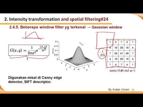 2.10 - Beberapa Filter yang Terkenal: Robert Mask, Sobel Mask dan Gaussian Filter