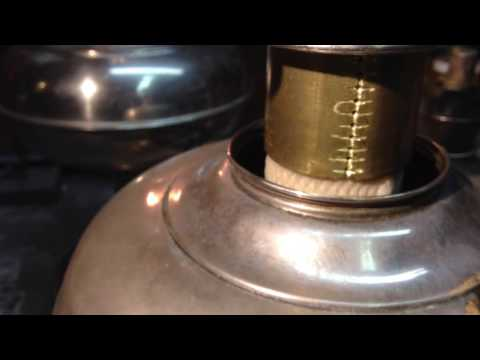 Center Draft Oil Lamp ( home made wick riser).