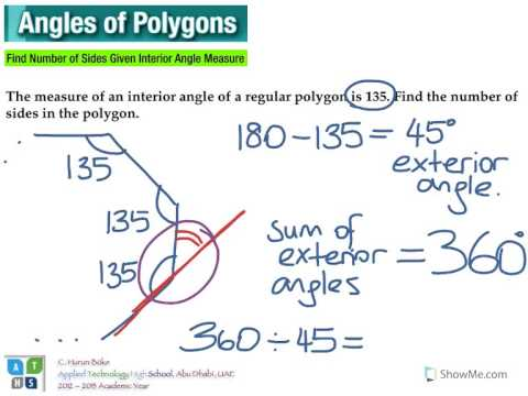 angles of polygons   finding number of sides