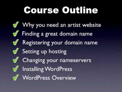 How to Create an Artist Website - Introduction