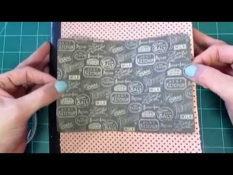 Altered Composition Book into Recipe Book: Part 1