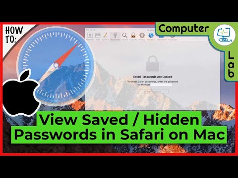How to view blanked out Passwords in Safari on your Mac.