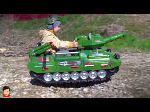 Unboxing and Assembling Power Wheels ride on Tank Funny Power Wheels cars Video for kids