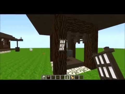 Minecraft Build Japanese - Two wells