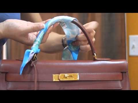 Hermes Kelly bag with Twilly wrap | How to add Twilly to Hermes Kelly