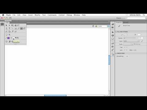 Adobe Flash CS6 Tutorial | Flash's Brush Tool