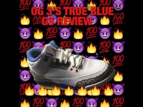GS OG 3's True Blue Jordan Review !!!!!!!!!