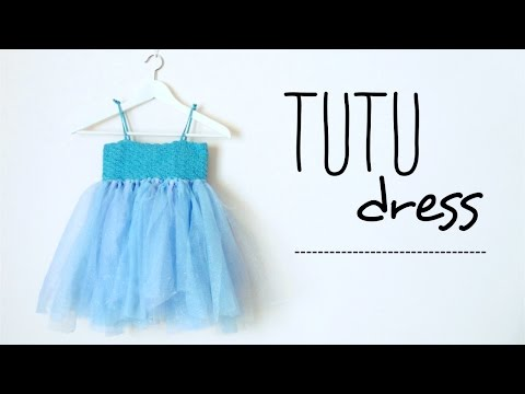 How to make a TUTU dress with CROCHET TOP (all sizes, no sew tutu) ♥ CROCHET LOVERS