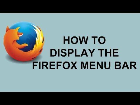 How To Display The Firefox Menu Bar   Hide The Firefox Menu Bar  Tech Tutorial Videos in Hindi