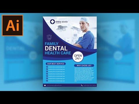 Illustrator Tutorial - Dental Clinic Flyer