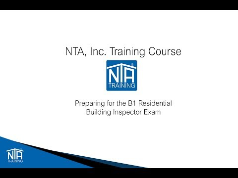 Studying for the ICC B1 Residential Building Inspector Video
