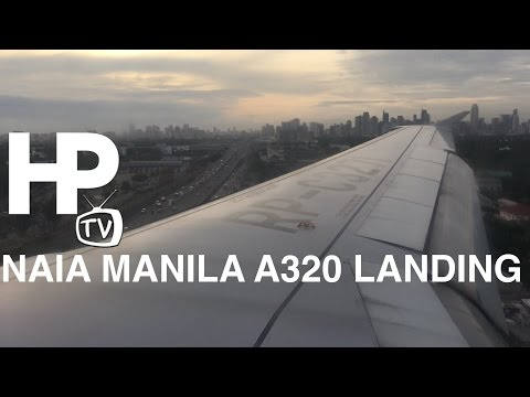 NAIA Manila A320 Landing Ninoy Aquino International Airport by HourPhilippines.com