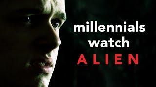Three Millennials Watch ALIEN For The First Time! - Bobby Burns