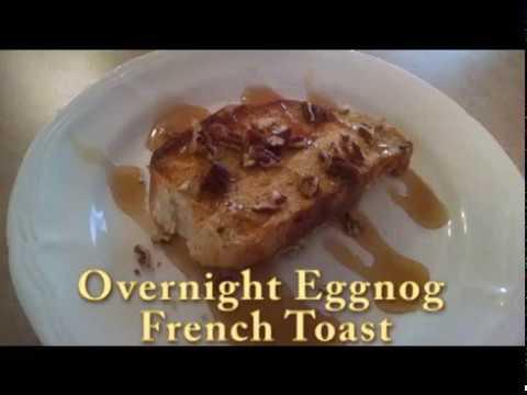 Eggnog french toast overnight