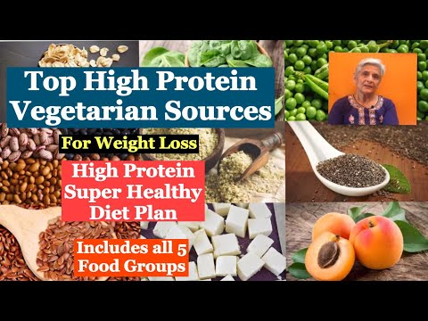 Top high protein vegetarian Sources For weight loss | Healthy High Protein Diet Plan | Part -II