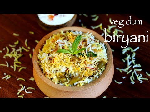 veg dum biryani | hyderabadi veg biryani recipe | how to make hyderabadi biryani